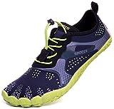 Hinweis: Barfußschuhe fallen etwas größer aus. Deshalb empfehlen wir eine nummer kleiner als die normale Schuhgröße zu nehmen. Wenn Sie 42 # tragen, kaufen Sie bitte 41 #.Dieser vielseitige Wanderschuh ist ein wahrer Alleskönner, der Sie bei ausgedeh...
