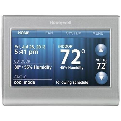 Honeywell RTH9580WF WiFi 9000 Color Touchscreen Thermostat, 8.06 sq in., Premier Silver-3