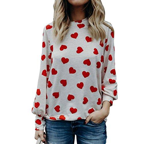 JUTOO Frauen lieben Geschenk Langarm Crop Jumper Pullover ()