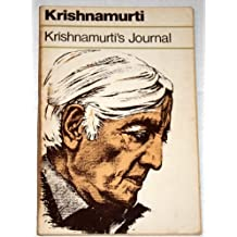 Krishnamurti's Journal by J. Krishnamurti (1982-03-01)