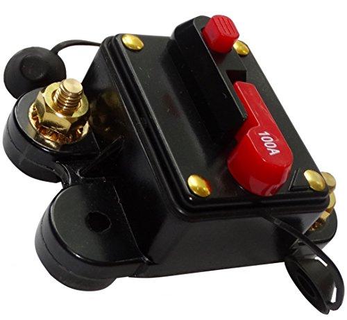 Preisvergleich Produktbild AERZETIX: 100A 12V 24V 32V 48V automatische Sicherung Brecher 78x52x37mm IP67 amp Auto Auto-Verstärker C14613