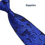 UJUNAOR Blumen Paisley Krawatte Taschentuch Herren Krawatte(O)