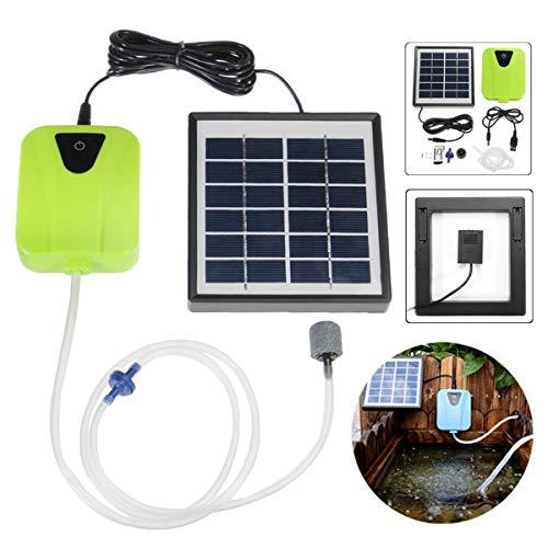 Electric Pump and Valve 2,5 Watt Leistung Teich Aquarium Pool Pumpe Sauerstoffgenerator Luftpumpe Outdoor Solar