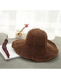Fzwang Ganchillo de la Mano de Las señoras Sombrero Grande a lo Largo de  Moda de bca6f8d73fd