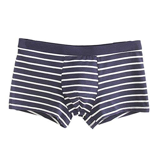 TIFIY Herren Männer Streifen weichen Baumwolle Unterwäsche Shorts Hipster Boxer Briefs Unterhosen (M, E) (Hipster Briefs Boxer)