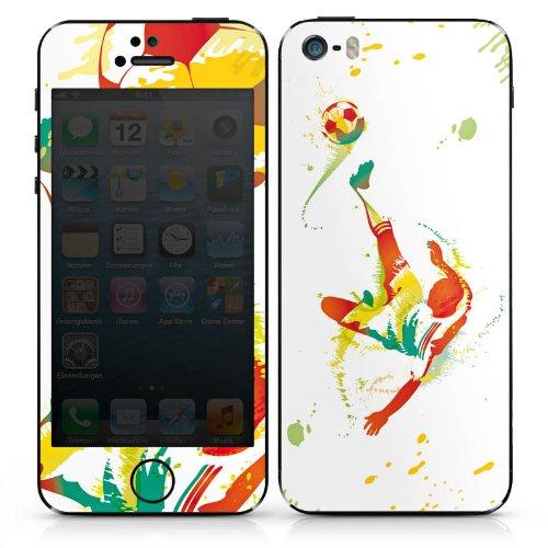Apple iPhone 5 Case Skin Sticker aus Vinyl-Folie Aufkleber Fußball Sport Torschuß DesignSkins® glänzend