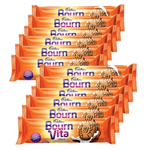 bournvita Cadbury Pro Health Chocolate Cookies, 46.5g (Pack of 12)  available at amazon for Rs.108