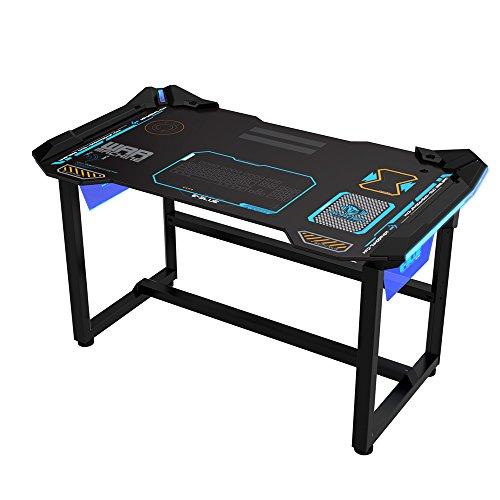 E Blue PC Gaming Desk W/LED Lighting, 1.2 M U2013 Schwarz