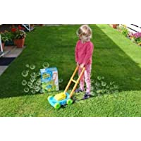 Children 49 cm Auto Spill Proof Bubble Blowing Lawn Mower Outdoor Garden Toys (Age Group: 3+)