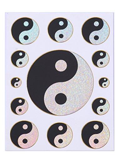Yin Yang stickers adesivi adesivi fogli 2 pagine