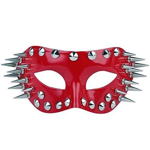 ske Griechische Römische Party Karneval Halloweenmaske für Männer und Frauen Rot (one size, Red) (High-end-kostüme Halloween)