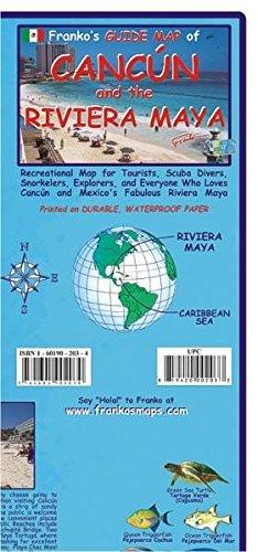 Cancun and Rivera Maya Guide and Fishcard: Tauch- und Schnorchel-Freizeitkarte