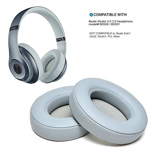 WADEO Beats Studio Ohrpolster Grau Wireless 2 3 B0500 B0501 Ohrpolster Ohrmuscheln (Grau Beats Wireless)