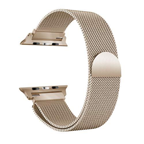 YBWZH Milanese Edelstahl-Uhrenarmband für Apple Watch Serie 4 40MM(Khaki)