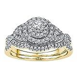 Diamond2Deal Herren Unisex Damen - 14 Kt 14 Karat (585) Gelbgold Rund G-H Diamant