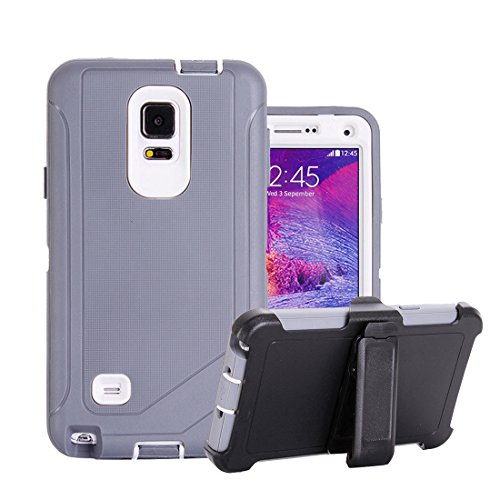 Galaxy Note 4 Fall, harsel Defender Series Heavy Duty High Impact Tough Rugged Armor Hybrid Schutz Military mit integriertem Gürtelclip Displayschutzfolie Schutzhülle für Samsung Galaxy Note 4/N910, 6