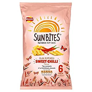 walkers sunbites wholegrain snacks sun m rie au soleil chilli 6x25g paquet de 6. Black Bedroom Furniture Sets. Home Design Ideas