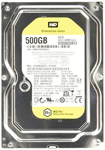 Western Digital WD5003ABYZ interne Festplatte 500GB (8,9 cm (3,5 Zoll), 7200rpm, SATA) - Western Digital 500 Gb Sata