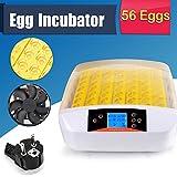 Flabor Inkubator 56 Eier Automatisch Digital Motorbrüter Incubator Brüter Brutmaschine Brutapparat mit LED Temperaturanzeige und Präzieser Temperaturfühler