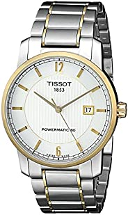 Tissot T-Classic Automatic Men's Silver Dial Two Tone Titanium Band Watch - T087.407.55.158