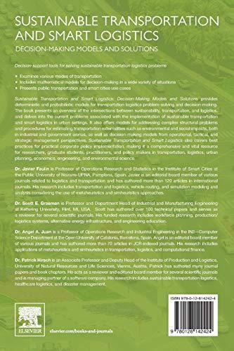 Sustainable Transportation & Smart Logistics: Decision-making Models & Solutions