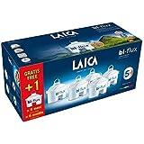 Pack de 6 filtros (5+1) bi-flux que mejoran el sabor del agua, reducen la cal y el cloro, compatibles con las jarras Laica y