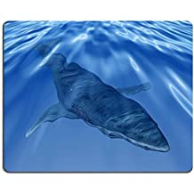 In gomma naturale, gioco Luxlady Mousepads Balena nell'immagine, colore: blu mare profondo 27517778 ID