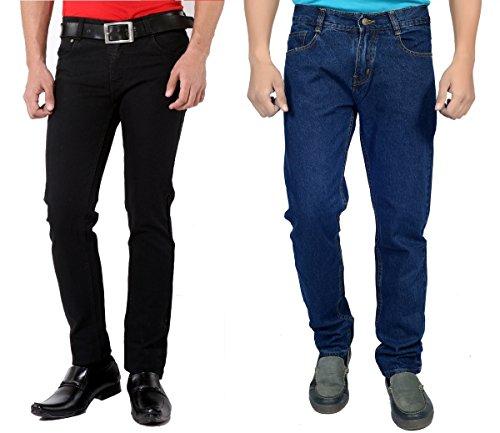Karya Men's 603 Regular Fit Jeans 603BLACK-603DKBLUE-COMBO_Black_Dark Blue_34
