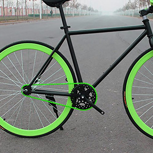 Generic Fahrradkette – BMX Fixie Single Speed Fahrrad Kette 1/2 x 1/8 Zoll – Gelb - 7