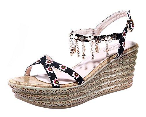 fq-real-balck-friday-womens-flower-rhinestone-tassels-ankle-strap-platform-sandals-55-ukblack