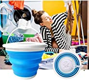 Machine à laver à turbine à ultrasons, mini machine à laver avec cuve pliable Portable laveuse à turbine à ult