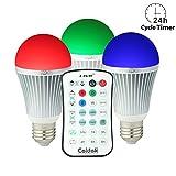 Coidak CO816 E27 RGB LED Birne mit Farbwechsel und Timer