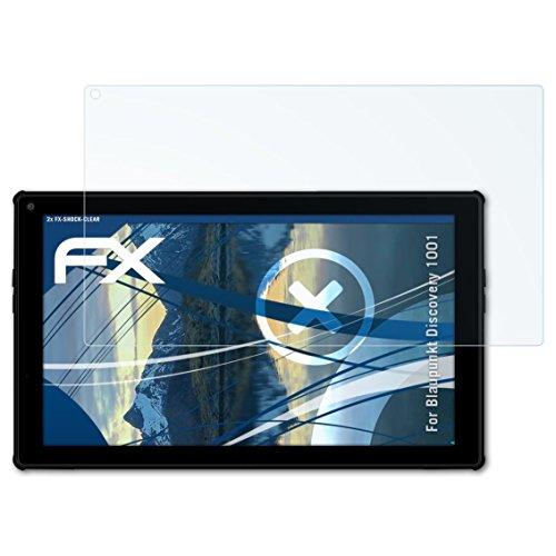atFolix Schutzfolie kompatibel mit Blaupunkt Discovery 1001 Panzerfolie, ultraklare & stoßdämpfende FX Folie (2X)