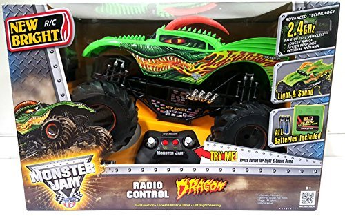 New Bright Monster Jam Radio Control Dragon RC 2.4 GHZ 1:10 Sound & Light Up Large Truck by New Bright - Jam-trucks Rc Monster