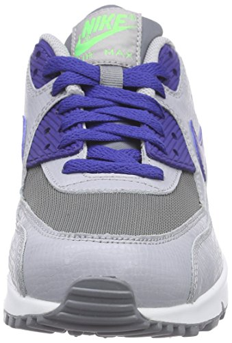 Nike Jungen Air Max 90 Mesh (Gs) Low-Top Mehrfarbig (Cool Grey/Deep Royal Blue-Wolf Grey)