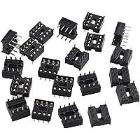 FUSD 20 adaptadores de Tipo Soldadura de 8 Pines 2,54 mm de Paso Dip/DIL IC Sockets