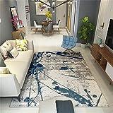 ZHAOJDT Tappeto in Stile Nordico per Soggiorno Dinning Room & Bedroom Tappeto Moderno per Letto da Salotto con Motivo a Inchiostro Blu 200 × 300 Cm Tappetino regionale (Size : 120×160cm)