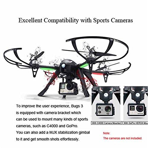 MJX B3 Profi Quadrocopter Drohne mit Aktionkamera-Halterung für Gopro Bürstlose Motoren 6A Elektrizitätsregulierung 2.4G Fernsteuer 4CH 6-Achsen Gyro 3D Rollen Funktion Drone für Profi Training Standard Version ohne Kamera und Gimbal - 2