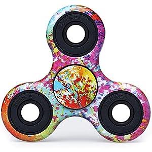 Nouveau produit Fidget Spinner, Tri-Spinner Fidget Jouet - Camouflage Fireworks, Hyper Durable, Hand Spinner (Toupie à la main), Non 3D-Printed, Pour la Polycinèse (ADHD, ADD) l'Autisme et pour le loisir