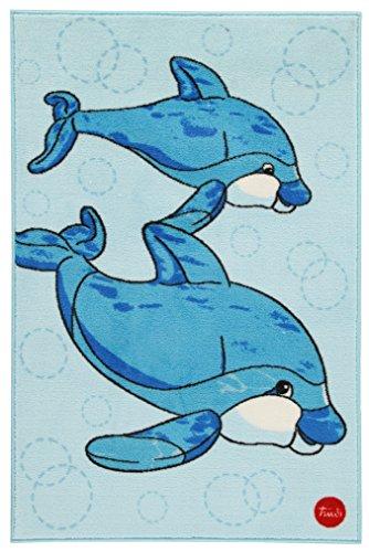 Trudi - Alfombra con modelo delfines (60646)