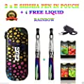 Electronic Cigarette Vaporizer Pen Twin Pack Starter Kit Zero Nicotine 650 Rainbow Kit With 4 Randoms Fruity Flavours by inspired vapour