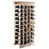 COSTWAY Estante de Vino Botellero para 44 Botellas Madera