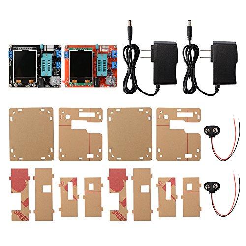 Kreema 2 St¨¹cke GM328 Transistor Tester Diode ESR Spannung Frequenz LCR Meter PWM Square Wave Signal Generator (Schwarz + Rot)