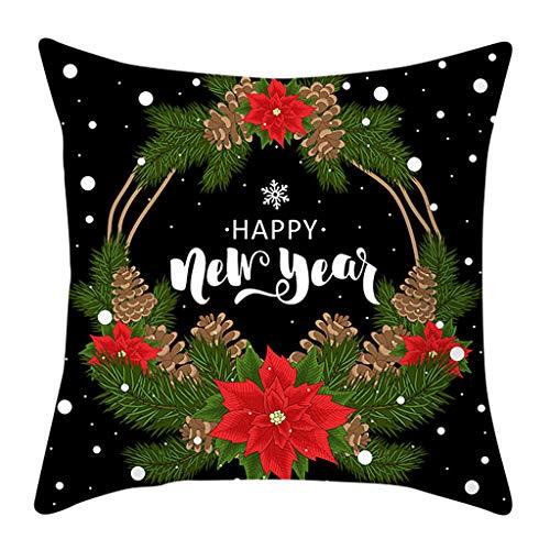 Cuteelf Weihnachten Kissenbezug Weihnachten Kissen Set Kissenbezug Sofa Taille Kissen Kissen Schlafzimmer Auto nach Hause Bett Dekoration Urlaub Atmosphäre komfortabel und elegant