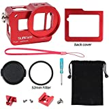 SUREWOSUREWO CNC Aluminum Alloy Protective Case Shell Frame For Gopro Hero 6 5 Black (Red)