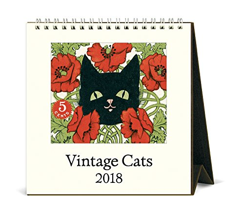 Cavallini Papers & Co. 2018Vintage Katzen Schreibtisch Kalender (Schreibtisch Katze-kalender)