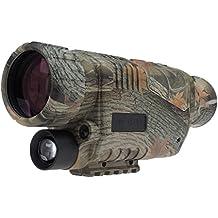 Uphig 5x40 LCD Dispositivo de Visión Nocturna Monocular IR Digital Infrarrojos para Caza, Juegos de los explradores, Vigilancia, Cámping Navegación Nocturna, Pesca Nocturna, Observación de Naturaleza Búsqueda y Salvamento