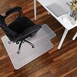 Antaprcis Tapis Protège-sol en PE Antidérapant pour Chaise de Bureau de Sols Durs Blanc 75 x 120 cm (Tapis en PVC)