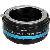 Fotodiox Vizelex ND Throttle Adaptateur d'objectif Nikon G avec filtre pour Appareil Photo Sony Noir