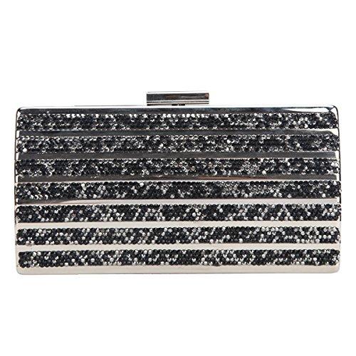 Fawziya Fashion Glitzer Metall Geldbörse Clutches für Damen Abendtasche und Party -